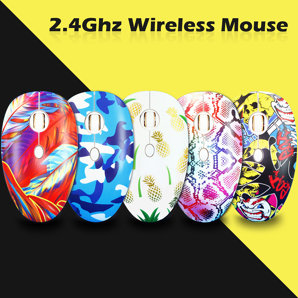 JONSNOW USB Wireless Mouse 1600 DPI Adjustable Optical Computer Opto-Electronic Gaming Mouse 2.4GHz Ergonomic Mice For Laptop PC
