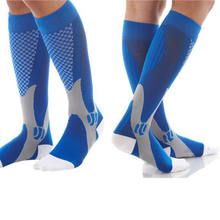 Unisex Men Women Compression Socks Leg Support Stretch Below Knee High Socks For Athletic Running Pregnancy Health(China)