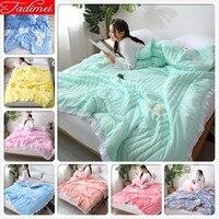 150x200 180x220 200x230 Summer Autumn Thin Quilt Adult Kids Boy Girl Bedspreads Blankets Single Twin Full Queen King Size 1.35m