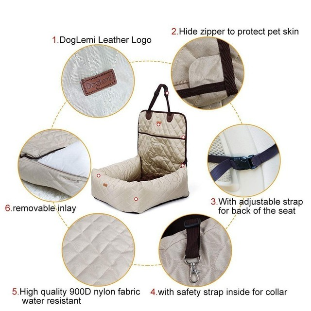2 In 1 Pet Dog Carrier Folding Car Seat Pad Safe Carry House Puppy Bag Car Travel Accessories Waterproof Dog Seat Bag Basket 2