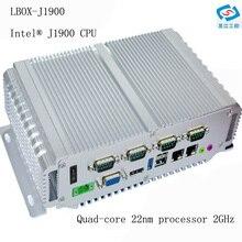 بدون مروحة كمبيوتر صغير 4G ram 64G SSD إنتل سيليرون المعالج J1900 دعم كمبيوتر صناعي واي فاي ثنائي Lan rs232 12v نظام هيكلى