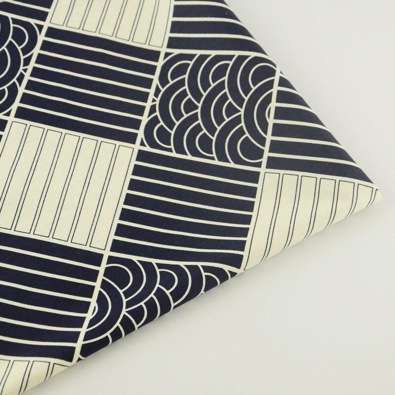 Retro Black Cotton Fabric Decoration Tissue Quilting Bedding Home Textile Tecido Craft Teramila Fabrics Patchwork Sewing Cloth