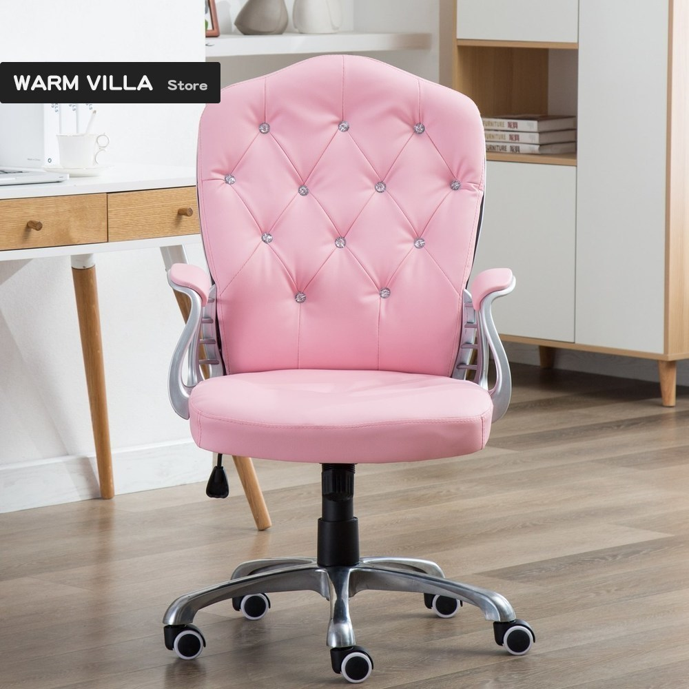 new Computer Student Main Sowing Backrest Chair Bedroom Solo Sofa Lovely Girl Economics Type Princess European Pink Colour