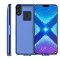 Para Huawei Honor 8X Max 7500 mah Caso Carregador de Bateria banco Energia De Backup De Bateria Estendida com Estribo Lateral para Honra 8X max telefone Estojos p/ carregador de bateria     -