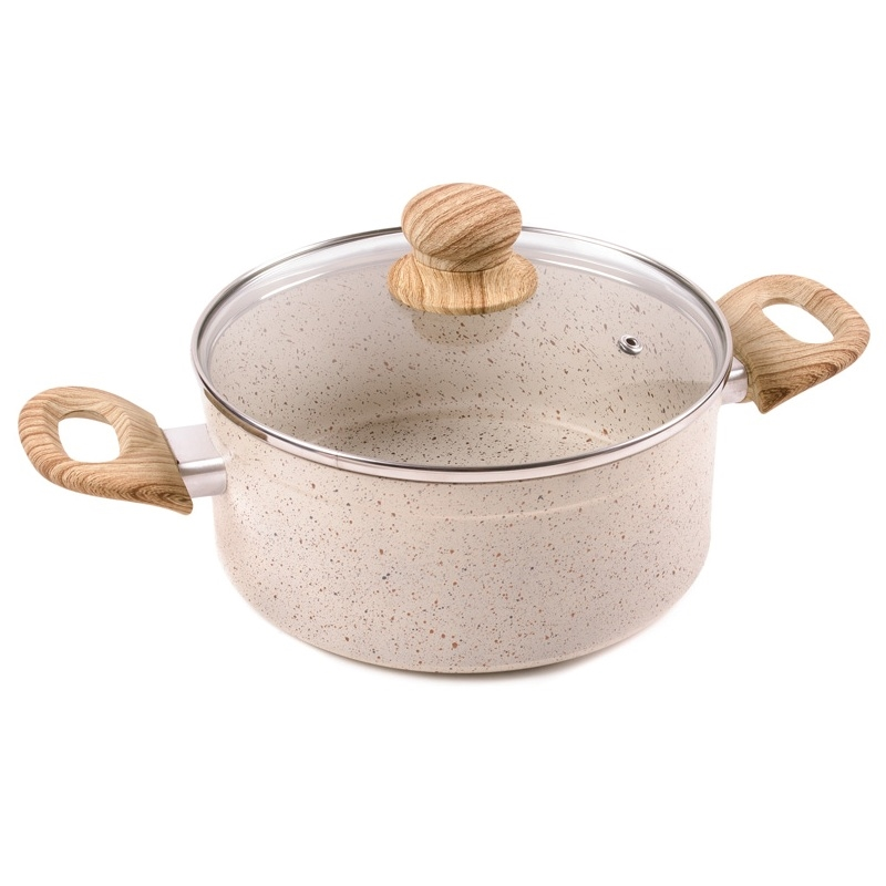 Pans with lid Endever Stone-Beige-20C цена и фото