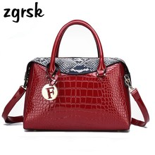 Womens Large Handbags Luxury Brand Women Tote Pu Leather Fashion Shoulder Messenger Bags Designer Crocodile Bag Handbag