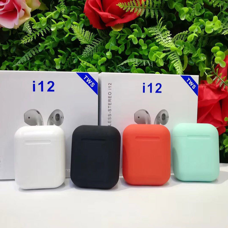 New i12 Tws Mini 1 1 Pods Wireless Bluetooth 5 0 Earphones Touch Control Headset Pk