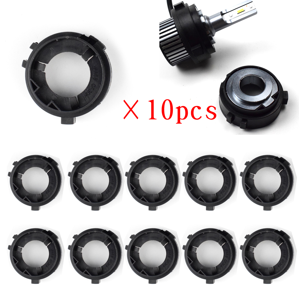 Dyoung 10pcs D109 Car Accessories  H7 Base Car Led Adapter  H7 Led Adapter For Volkswagen GOLF 6 Multivan Touran