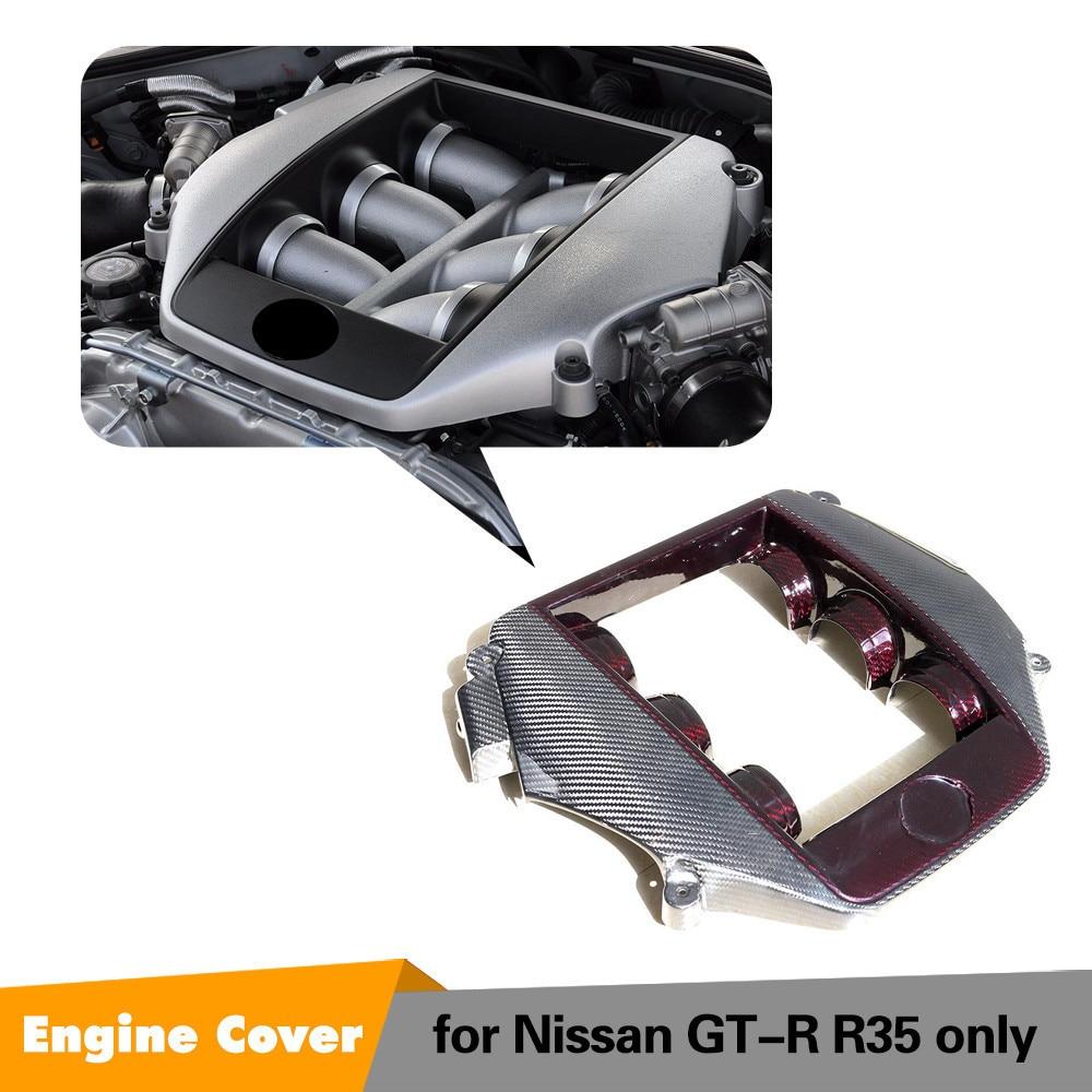 Engineen Couverture Pour Nissan GTR 2009-2014 Rouge En Fiber De Carbone Center Capot Carbone Capot Moteur