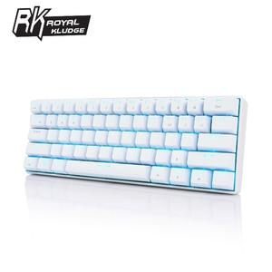 Image 3 - لوحة مفاتيح Kludge RK61 المريحة بلوتوث مزدوجة الوضع 60% RGB ضوء لوحة مفاتيح ميكانيكية للألعاب للكمبيوتر المحمول اللوحي