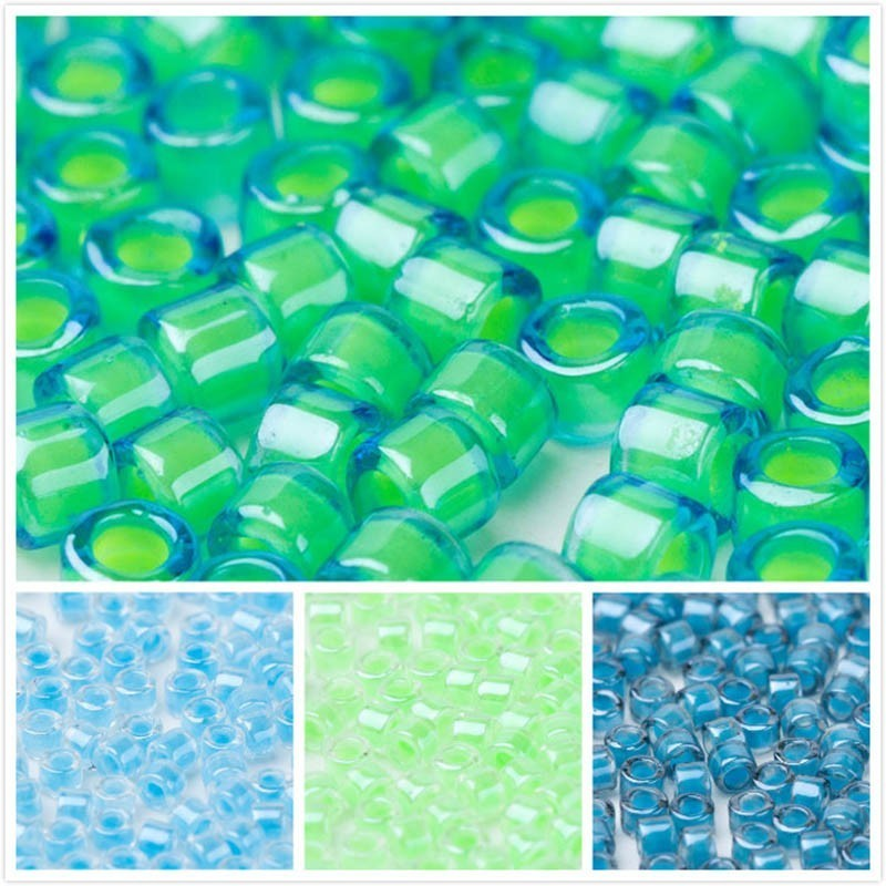 Taidian DB2053 Luminous Mermaid Green Miyuki Delica Beads For Bead Weaving 3/5grams/lot 1.6x1.3mm