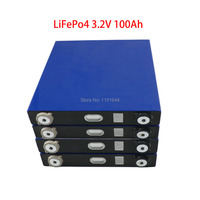 4PCS 3.2V 100Ah LiFePO4 Long LifeCycles 3500 Times Pulse 500A Cell For 12V Camper Van Uninterruptible Power System