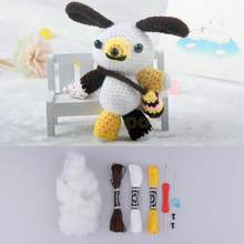 fityle Handmade DIY Dog Doll Toy Crochet Kit Amigurumi Kit hand eye coordination for Kids Beginners Crafts Sewing Tools(China)