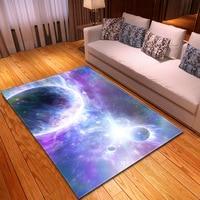 Modern Starry Sky Galaxy Printed Rectangle Rug Child Play Carpets for Living room Bedroom Decor Rug Tea table Antiskid Floor Mat