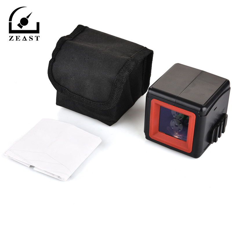 Portable Red Light 2 Line 1 Point Cube Laser Level Cross line Laser With Self leveling