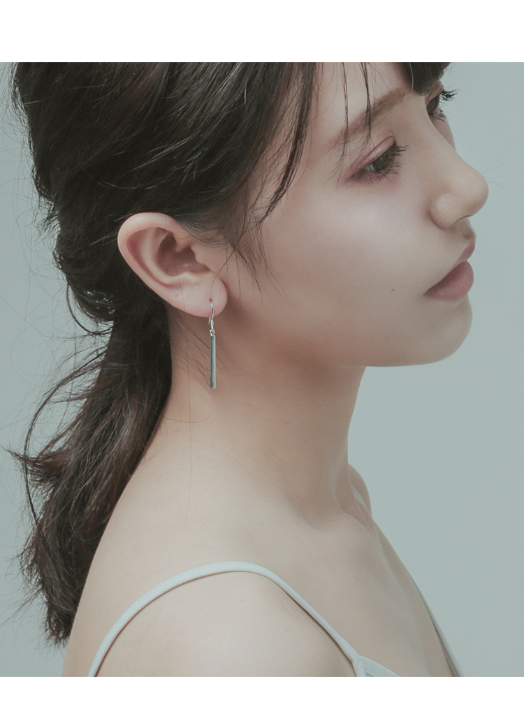 925 Sterling Silver vertical bar Earrings For Women Fashion Jewelry sterling silver jewelry pendientes in Drop Earrings from Jewelry Accessories