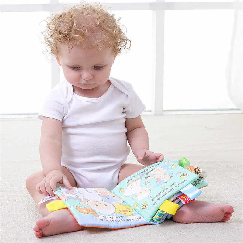 Животные Стиль Обезьяна/Сова/собака Новорожденные игрушки для детей Обучающие Детские ткани книги милый младенец, Ткань Книга игрушка из ткани