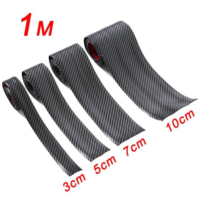 3cm 5cm 7cm 10cm z włókna węglowego guma miękka uszczelka DIY na drzwi zabezpieczenie progu osłona krawędzi naklejki samochodowe akcesoria samochodowe do stylizacji