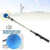 Golf Swing Trainer with Vocal Ball Head Golf Training Aid Correction for Strength and Tempo Training Golf Club Equipment