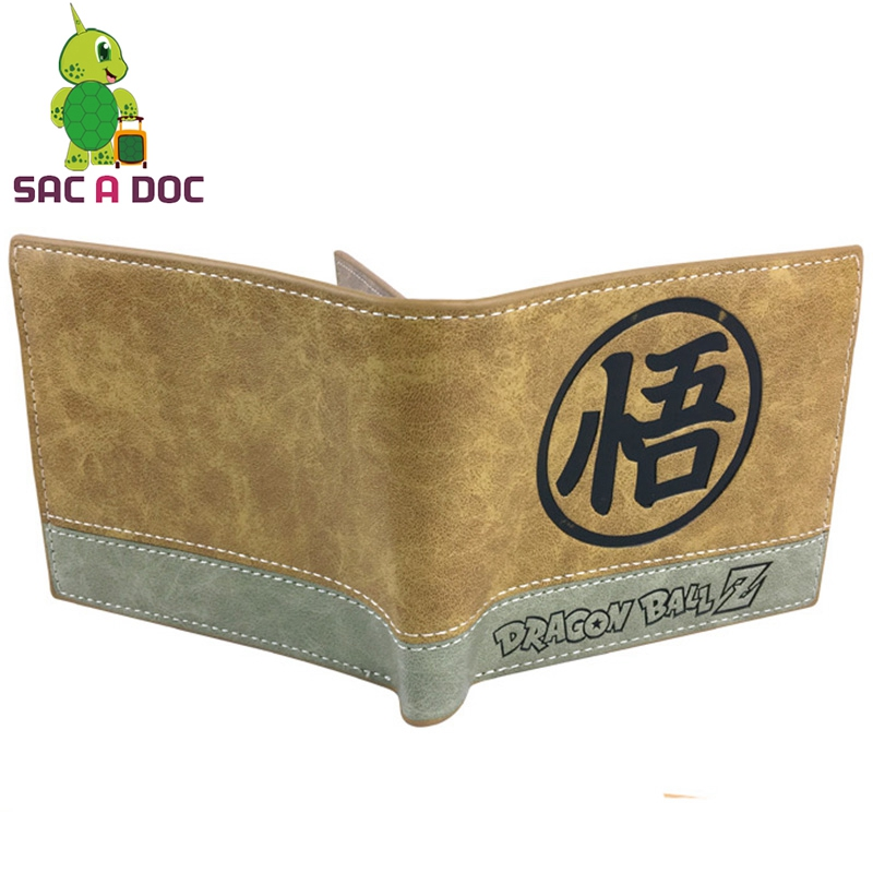 0ce951e38e35 US $8.09 10% OFF|Anime Dragon Ball Wallets Super Saiyan Son Goku Master  Roshi Short Clutch Purses Pu Leather Credit Card Holders for Men Women-in  ...