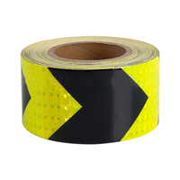 45M x 5Cm Black+Yellow Reflective Warning Tape Adhesive Car Truck Conspicuity Tape Car Accessories