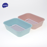 Howfun soap dish, 2 pcs/set soap box, 14.5CM * 10CM big size soap case with Clapboard, Concise design