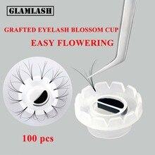 GLAMLASH 100Pcs Lash Glue Lift Cup Eyelashes Extension Makeup Tools Plastic Eyelash Holder Adhesive Stand  lash