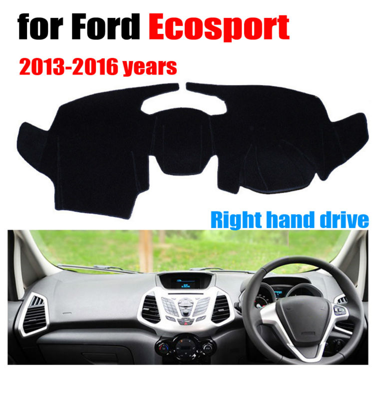 "Ford C-Max 2013-2016 w// 7/"" Screen Carpet Dash Cover Mat Maroon"
