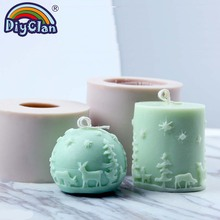 Christmas Candle Making Mold Silicone Soap Candle Mould Handmade Xmas Silikon Form For Gypsum Plaster Diy Tools
