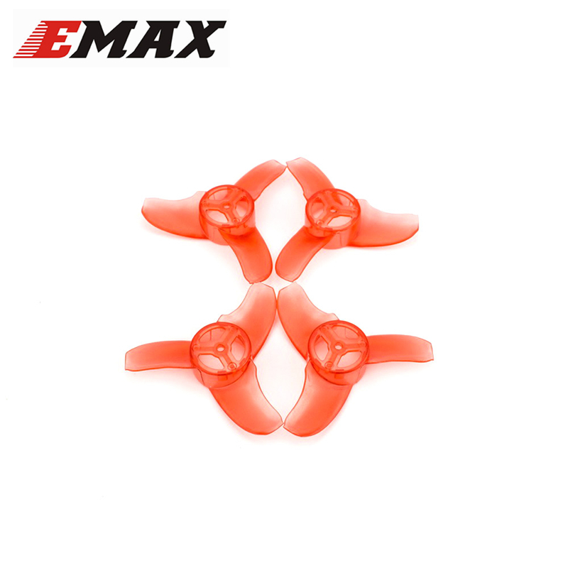 2 Pairs Emax Tinyhawk Indoor FPV Racing Drone Spare Part Avan 3-Blade Propeller Diameter 40mm for Drone Quadcopter Spare Parts