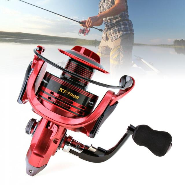 Yumoshi 7000 serisi balıkçılık iplik makarası 13 + 1 rulmanlar iplik makarası süper güçlü balıkçılık Reel 4.7:1 balıkçılık Spinner