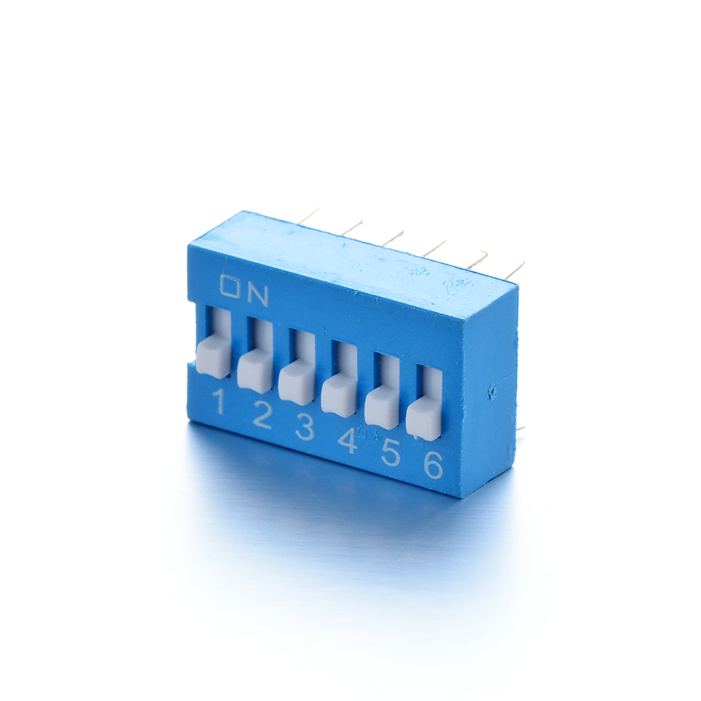 Switches Responsible Brand New 10pcs/set 2x6 Pins Blue 17x10x10mm Dc 24v 100ma Dip Switch Use For Wireless Communication Broadcast And Tv