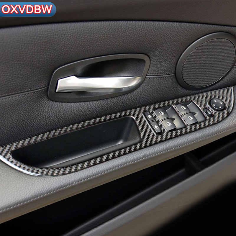 For bmw e60 Carbon fiber accessories Center Console Gear Panel Air Panel  Steering Wheel Door Handle Interior decoration Sticker
