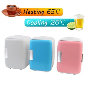 12v 4l Mini Car Small Refrigerator Car Home Dual-use Dormitory Bedroom Refrigerator Box Car Semiconductor