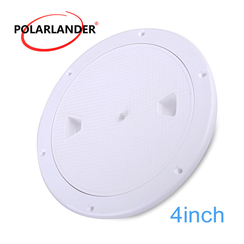 1 Piece ABS Inspection 4/6/8 Inch No Screw Round Anti-corrosive White Access Hatch Cover Deck Plate For Boat Yacht Marine Tight