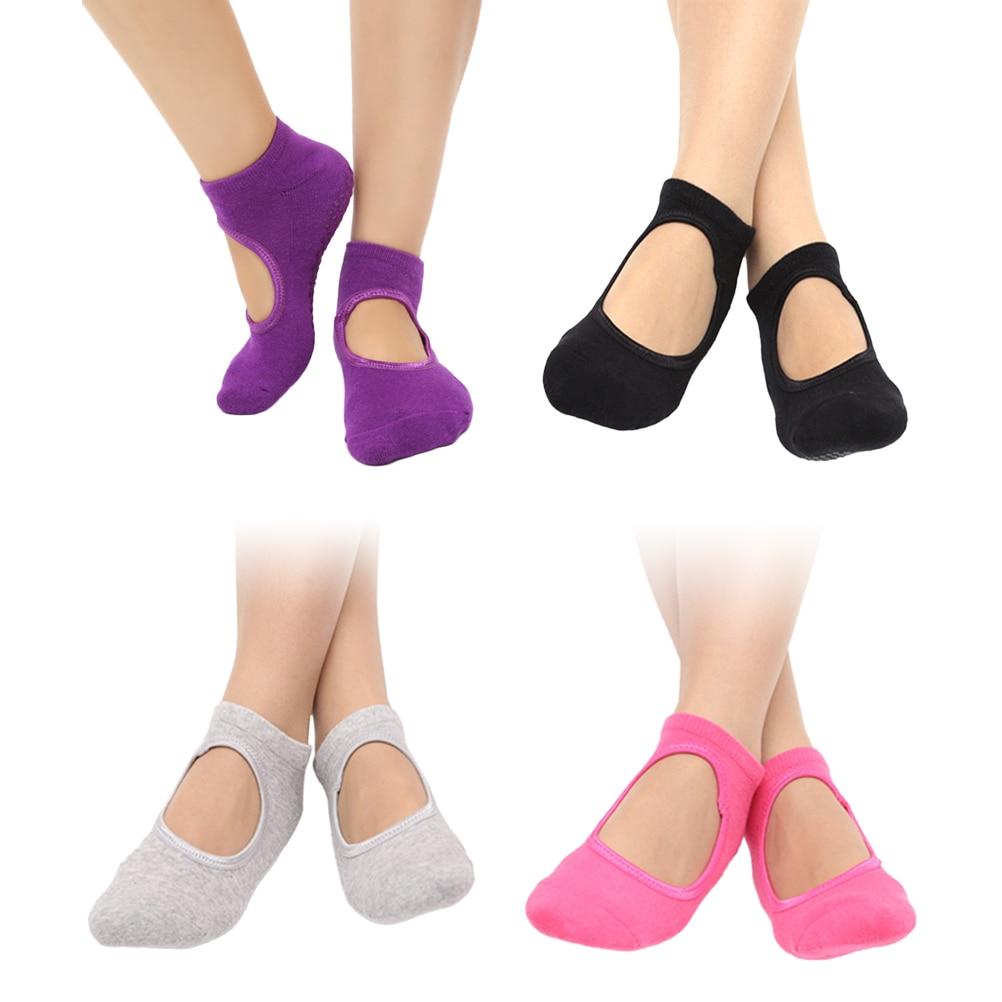 @1  4 пары балетных носков Yoga Женские нескользящие противоскользящие носки Pilet Grip ★