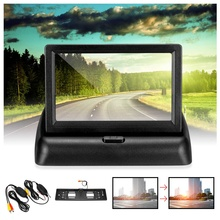 4.3 inch Foldable TFT Digital Car Monitor Truck Reversing Re