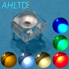 1000pcs F5 5mm Red Green Blue White Yellow Dome Flux Water Clear Piranha 1.9~3.4V Led Auto Lamps Light Emitting Diodes Bulb