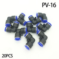 Free shipping 20pcs/lot PV 16 right angle plastic bent TRUMPF pneumatic quick coupling pneumatic connector