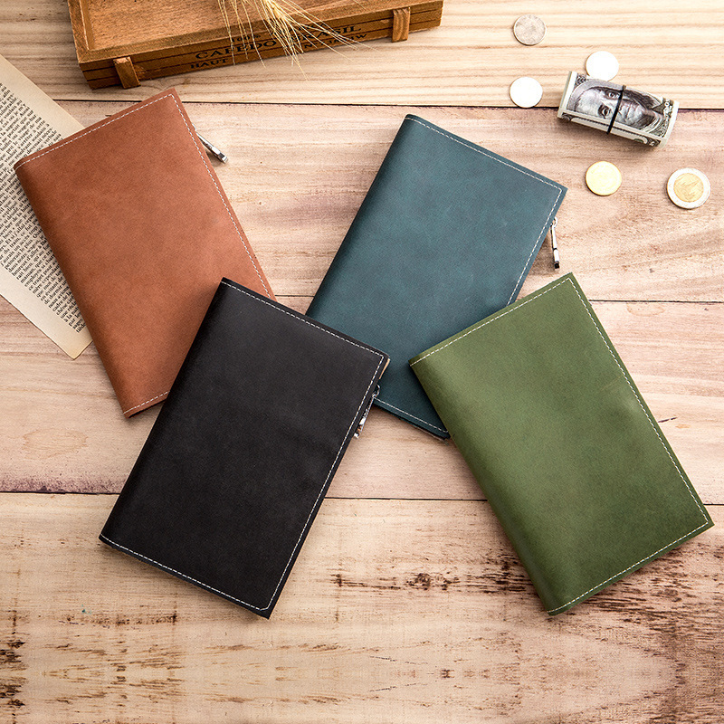 Image 4 - Genuine Real Leather Passport Travel Money Wallet Credit Card Case Coin Zipper Ultra Thin Cow Skin Good Quality Men Male HolderCard & ID Holders   -