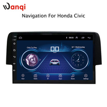 9 inch Android 8.1 car dvd GPS Navigation For Honda civic 2016-2018 With Bluetooth/TV/WIFI/USB/Radio/video
