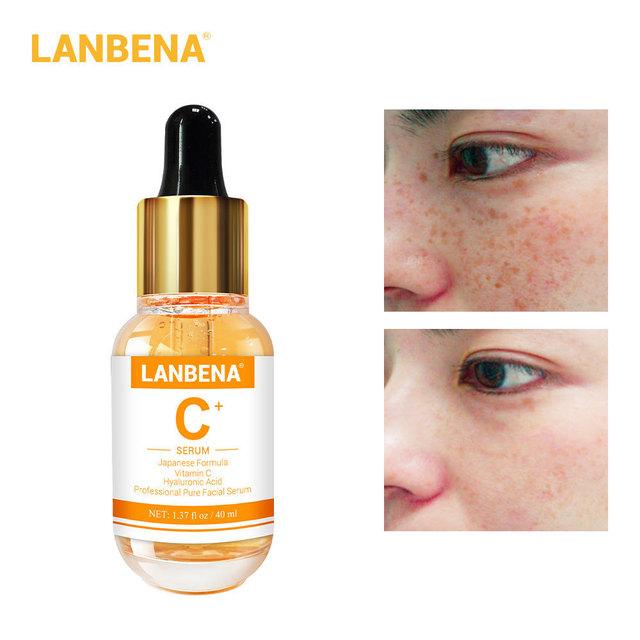 LANBENA  Vitamin C Serum Whitening Essence Remove Fade Dark Spots Brighten Nourishing Facial Skin Care Face Cream 40ml