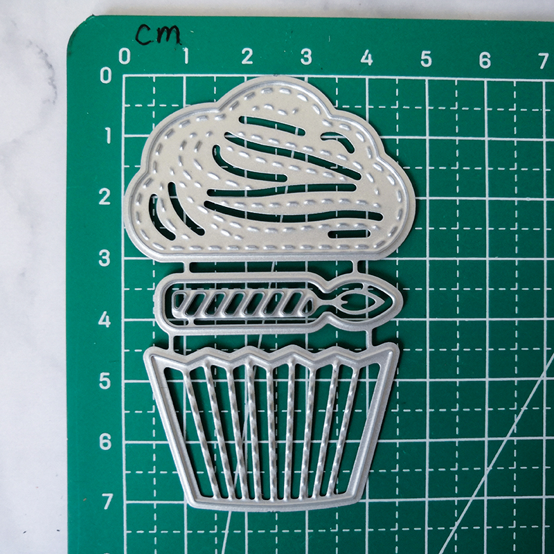 Cup Cake Dies Metal Cutting Dies Stencils for Scrapbooking Album Candle Craft Die Cut for Card Making Decoration Embossing in Cutting Dies from Home Garden
