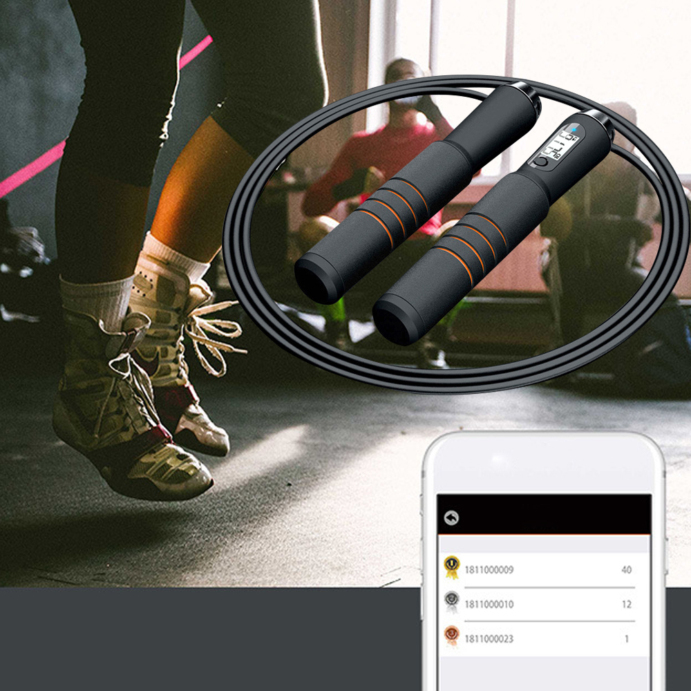 Intelligent Bluetooth Jump Rope Crossfit Digital Calorie Speed Counter Jump Ropes For Exercise Alarm Reminder Weight Setting APP image