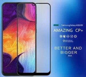 Image 2 - Nillkin CP + verre trempé pour Samsung Galaxy A30 A50 A70 A40 A70S colle de protection oléophobe complète