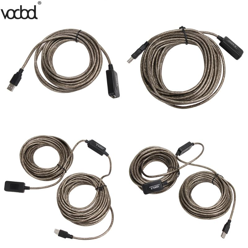 5m 10m 15m 20m USB Cable Male To Female USB 2.0 Extension Cable Extension Line Cable  Wire Data Adapter Connector High Speed
