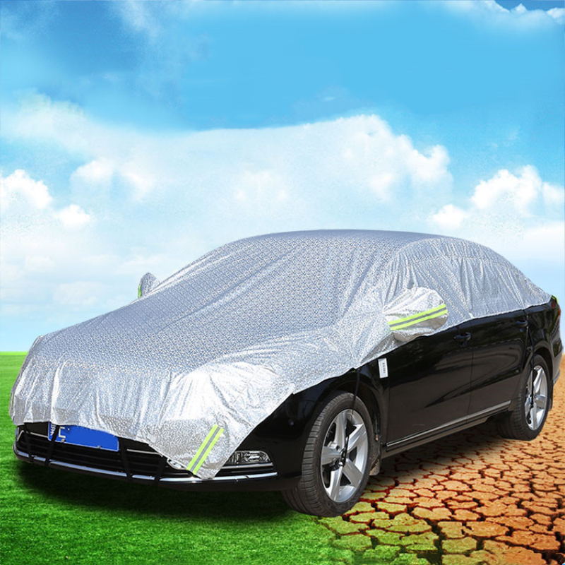 Car Covers Waterproof SUV Auto Sun Proof Shade Reflective Strip Outdoor Dust Rain Protection Universal Summer On Car Accessories image