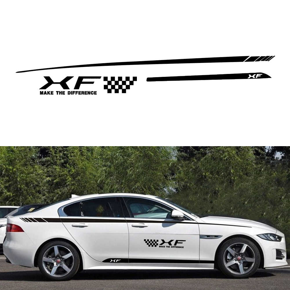 Car side body decal stickers for jaguar xf hatchback custom decals diy decoration creative car decals