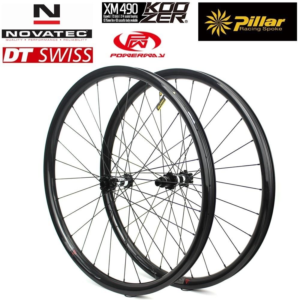 29er MTB Carbon Wheelset 28H 32H 28 24mm Use Super Light Only 310g Carbon Rim For