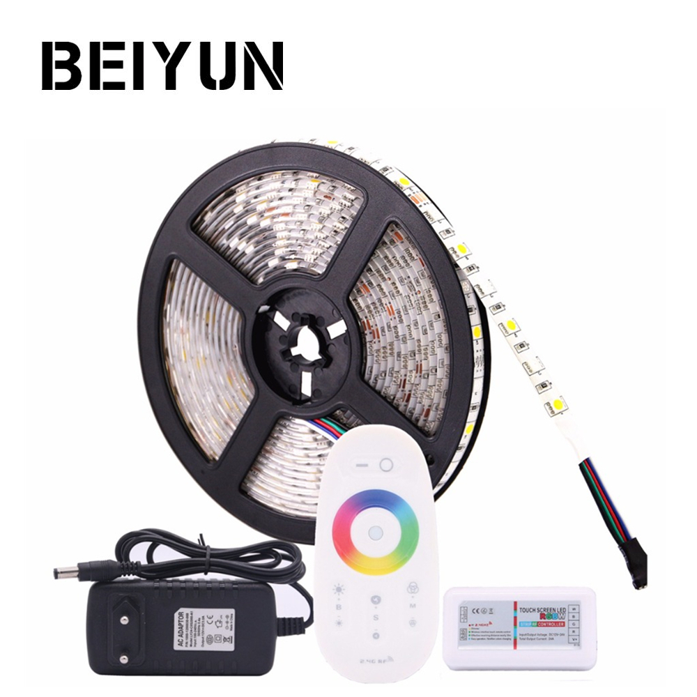 Frugal Rgb Led Strip Waterproof 5050 Rgbw Rgbww Led Light Strip Flexible Neon Tape With 2.4g Rf Controller And Power For Home Lighting Refreshment Led Strips Led Lighting